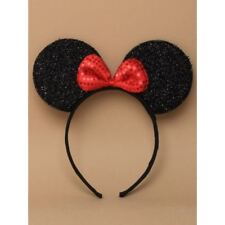 Mini Mouse Ears Sparkly with Bow Alice band Headband Fancy Dress Hen Nights
