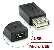 USB 2.0 Tipo a Hembra a Micro USB b Conector Hembra Adaptador de Enchufe convert
