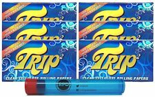 Trip2 Cellulose Clear Rolling Papers Mini Size (6 Packs) with RPD Doob Tube