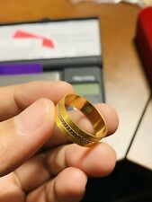 18K Fine Saudi Gold Mens Women's Band Ring Fits Size 9''-9.5""