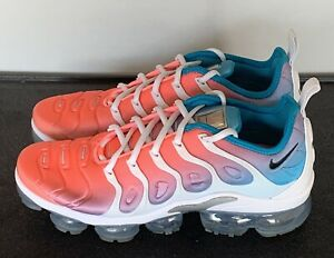 *Preowned* Women's Nike Air VaporMax Plus Lava Glow Blue CI5862 600 Size 10