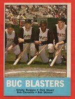 1963 Topps #18 Buc Blasters NEAR MINT Roberto Clemente Pittsburgh Pirates HOF