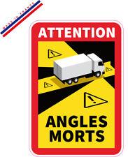 Lot de 30 stickers angles morts Poids lourd officiel adhésif  Camion RECUP TVA