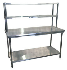 Commercial Kitchen Stainless Steel Double Overshelf for Prep Tables - 900mm