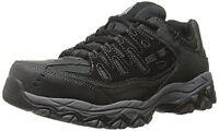 77055 4E WIDE Skechers Mens Cankton Work Shoes Steel Toe,EH  Black Char