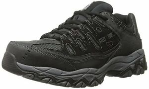 77055 4E WIDE Skechers Mens Cankton Work Shoes Steel Toe,EH  Black Char