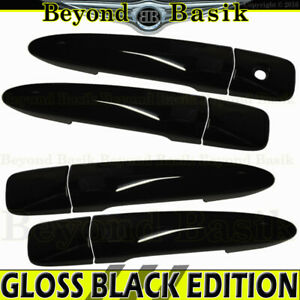 For 2013-2019 Nissan Sentra GLOSS BLACK Door Handle COVERS W/O SMART Keyholes