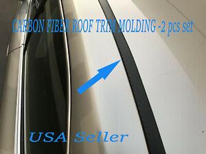 For JEEP vehicles 2pcs Flexible CARBON FIBER ROOF TRIM Molding Kit
