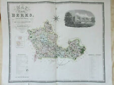 Antique Map of Berkshire by C. & J. Greenwood. 1829, hand-coloured