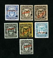 Colombia Stamps VF OG NH Rare Specimen Set of 7