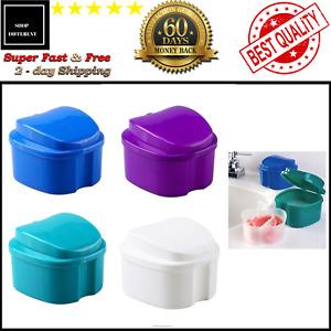 Denture Cleaner Retainer with Tray Case Cup Holder Storage Denture Cleaner Retai