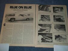 "How-to Info Article 1967 Chevy Impala Lowrider Custom Interior ""Blue on Blue"""