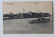 29998 AK Dresden-Übigau Schiffswerft mit Elbe Dampfer um 1916 - Rarität