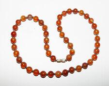 Collier style vintage agate ambrée / agate gemstone necklace vintage style