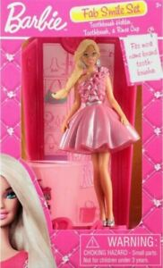 Barbie Pink Fab Smile set with toothbrush,rinse cup and pink barrett CBR10015