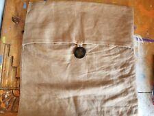 "Pottery Barn Tan Linen 18"" Linen Button Pillow Cover"