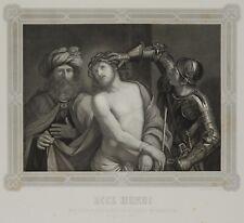 VOLKERT; nach GUERCINO, Bibl. Szene. Passion Christi. Ecce Homo, 1876, Stahlst.