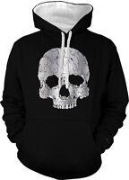 Skull Decorative Ornament Symbol 2-tone Hoodie Pullover