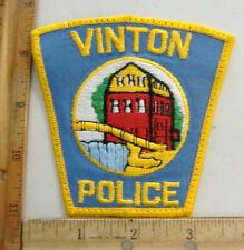 VINTON VIRGINIA  POLICE  FABRIC PATCH
