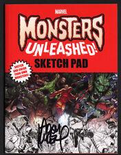 Monsters Unleashed Promo Art Sketch Pad SIGNED X7 Adam Kubert Chip Zdarsky +++