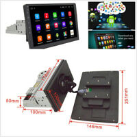 """Touch Screen 10.1""""Single Din Quad-Core Rotatable Android 8.1 Car GPS Wifi BT DAB"""