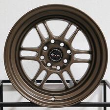 "4-New 15"" Vors TR6 Wheels 15x8 4x100/4x114.3 20 Bronze Rims"