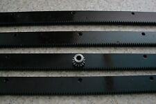 "CNC Stepper motor mech Rack & Gear 96"" Rack (4-24"" pcs) & a 15T 8mm pinion gear"