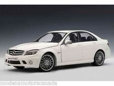 Mercedes-Benz C63 AMG White Sedan VERY HARD TO FIND NEW IN BOX VERY RARE MINT