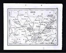 1833 Perrot Tardieu Map - Oise - Clermont Senlis Comigne Beauvais Noyon - France