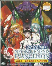 NEON GENESIS EVANGELION - COMPLETE TV SERIES 1-26 EPS + 5 MOVIE BOX (ENG DUBBEB)