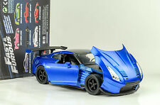 2009 BRIAN'S NISSAN GT-R (r35) Ben automatique presque AND & FURIOUS 8 bleu 1:24 Jada