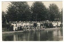 SPRINGE Hannover, Schwimm-Verein Fest am Pool / Schwimmer * Vintage 20s Photo PC
