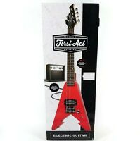 First Act Red V-Shaped Electric Guitar with Practice Amp (ME279) - NEW/SEALED
