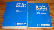 2003 Mazda Protege / Protege5 Shop Service Manual + Wiring Diagram Set 03