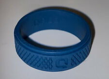 QALO Mens Silicone Functional Wedding Ring~Black~Size 13 New Blue Teal
