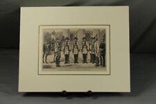 Leibgarde der deutschen Kaiserin - Holzstich um 1878 mit Passepartout (A) /359