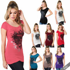 Hip Length Party Gothic Tops & Shirts for Women