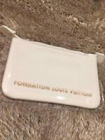 Fondation Louis Vuitton Paris Limited Makeup Pouch Bag Case White Cotton PVC