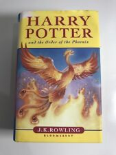 Harry Potter And The Order Of The Phoenix J.K Rowling Hard Cover First Edition