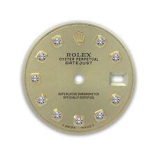Champagne Gold Diamond Dial Rolex Ladies Datejust 2 Tone