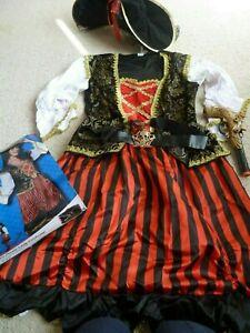 Curves Pirate Lady Costume Smiffys Fancy Dress Costume - Size L + pistol 16-18
