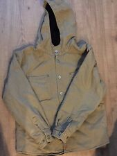 Jesse James Workwear Beige Canvas, Fleece Lined, Hooded Jacket, Kids XL(14-16)