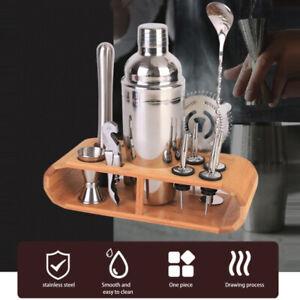 12 PCS Cocktail Shaker set Mixer Bartender stainless Steel Martini Jigger Gift