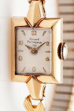 Antique 1940s RETRO 14k Yellow Gold Gerard Perragaux Ladies Watch WARRANTY