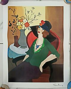 🌟 ITZCHAK TARKAY HAPPY RECOLLECTION SERIOLITHOGRAPH COA & SIGNED IN PLATE