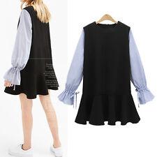 New Women Ladies Casual Tunic Dress Long Sleeve AU Size 12 14 16 18 20 22 #9198
