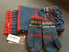 Cath Kidston Lambswool Scarf And Mittens New
