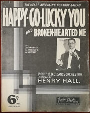 More details for happy-go-lucky you and broken-hearted me, irwin dash vintage music – pub. 1932