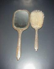 Vintage International Sterling Silver Brush & Mirror Set Beveled