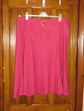 NEW - KLASS LINEN/VISCOSE MIX, FULL LINED, SIDE ZIP, LOVELY PINK SKIRT- SIZE 20